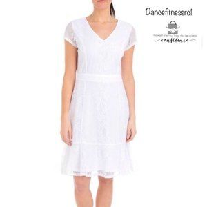 *NY Collection Women Flounce Hem Lace Sheath Dress